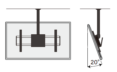 天井吊下げ薄型ディスプレイハンガーのイラスト