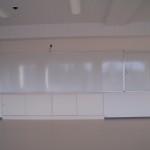 アルミ枠平面ホワイトボードと行事用ホワイトボード
